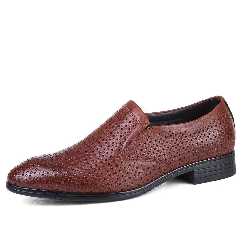 2018 Chaussures de Ville Oxford décontractées avec Code de Taille pour Le Cuir Britannique et Les Chaussures de Ville Creuses (Couleur: Brun Clair et Creux, Taille: 40 EU)