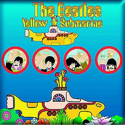 The Beatles Fridge Magnet Yellow Submarine Portholes Official 76Mm X 76Mm Beatles Yellow Submarine Magnet