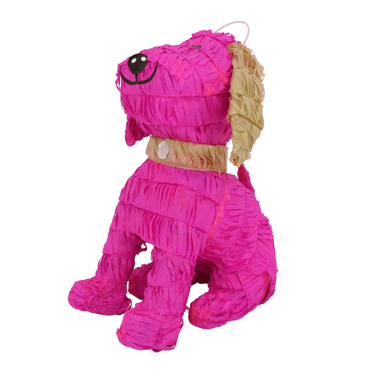 LYTIO – Cute Pink Dog Shaped Pinata with Light Brown Details (Piñata) Ideal for Animal Parties, Center Piece, Photo Prop and Décor
