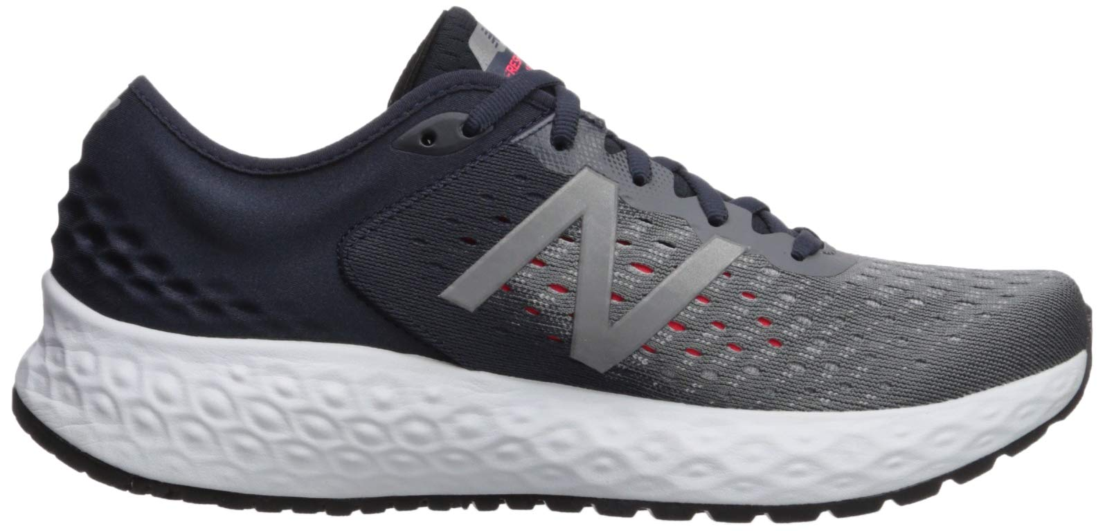 New Balance Men's 1080v9 Fresh Foam Running Shoe, Gunmetal/Outerspace/Energy red, 7 D US by New Balance (Image #7)