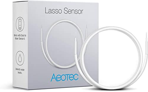 Aeotec Water Sensor 6 for Home Security Z-Wave Plus Water Leak Detector Smart Flood Sensor Freeze Sensor Temperature Detector Lasso Sensor