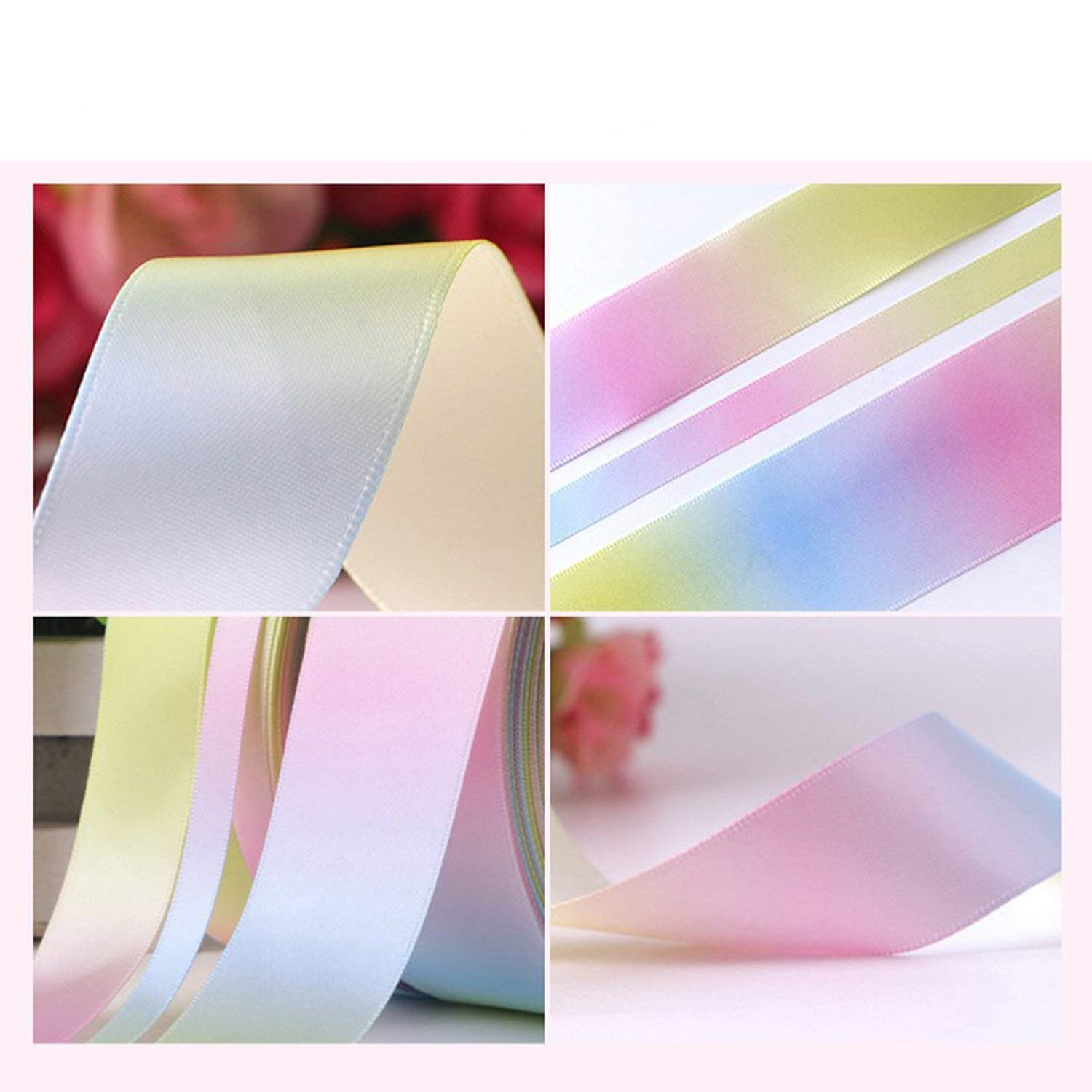 Party Streamers Rainbow Ribbon Printed Polyester Satin Ribbons Handmade Materials,50mm by AYO-LE streamers (Image #4)