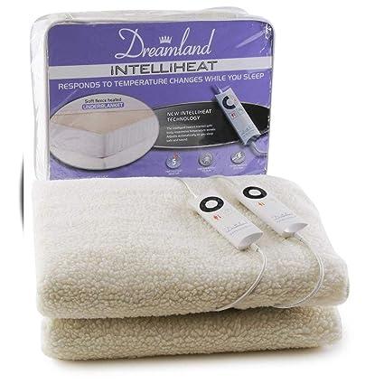 Dreamland Intelliheat - Manta eléctrica con 2 Controles, Doble, Color Blanco