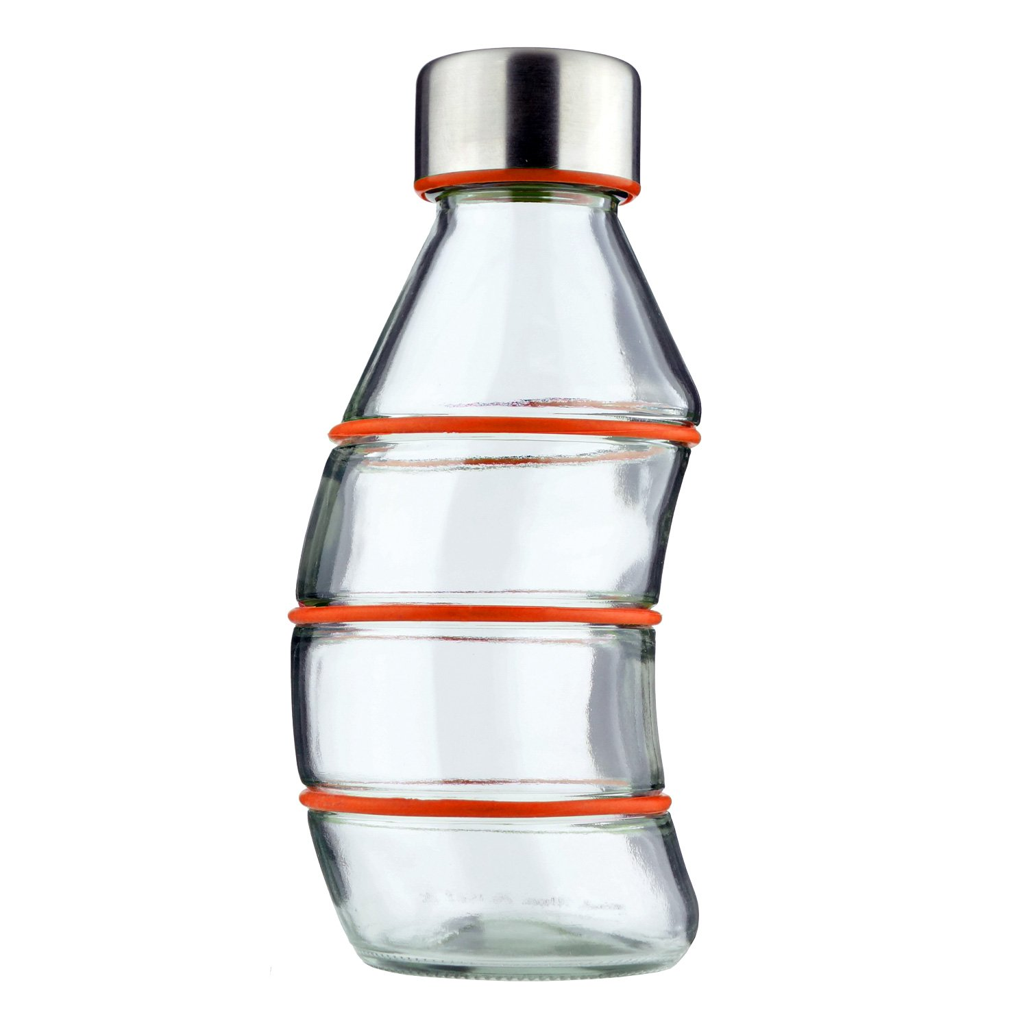 CLEAR LID RED 1.0L GRIP /& GO REUSABLE GLASS BOTTLE