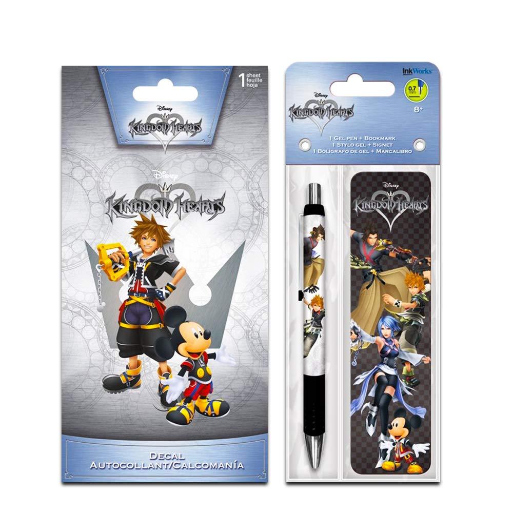 Bookmark and Decal Sticker Set InkWorks Disney Kingdom Hearts Pen Kingdom Hearts Merchandise