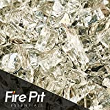 Cheap White Cloud Platinum Reflective Fire Glass 1/4″ Firepit Glass Premium 10 Pounds Great for Fire Pit Fireglass or Fireplace Glass