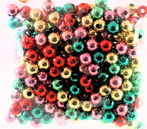 (310 Bright Jewel Colors Metalized Acrylic 8mm Round Bead)