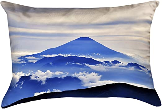 Updated Fabric ArtVerse Katelyn Smith Montana 20 x 20 Pillow-Faux Linen Double Sided Print with Concealed Zipper /& Insert