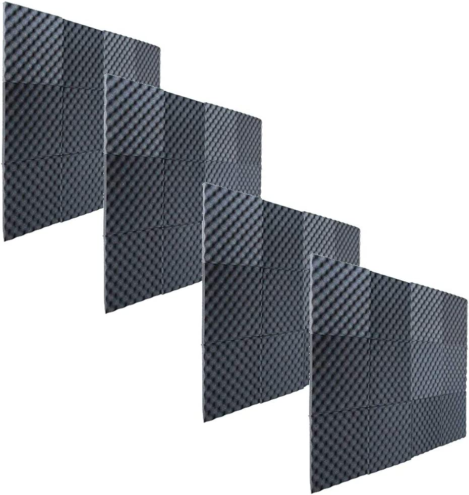"1""x12""x12"" Egg Crate Foam Acoustic Foam Tiles Soundproofing Foam, 48 Pack"