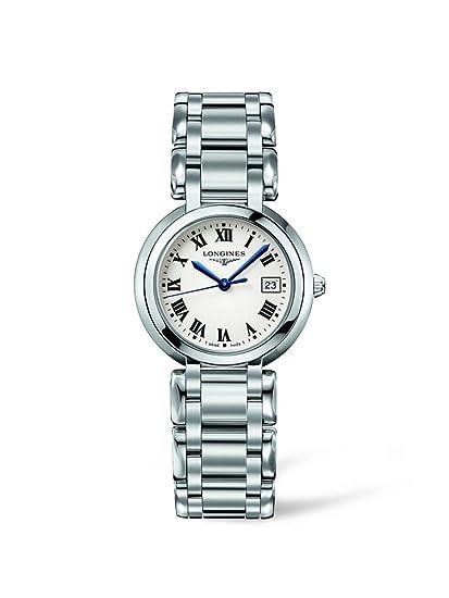 Longines L81124716 - Reloj de cuarzo para mujer, con correa de acero inoxidable, color