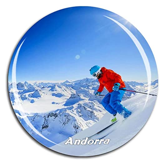 Weekino Esquiar grandvalira Andorra Imán de Nevera 3D de Cristal ...