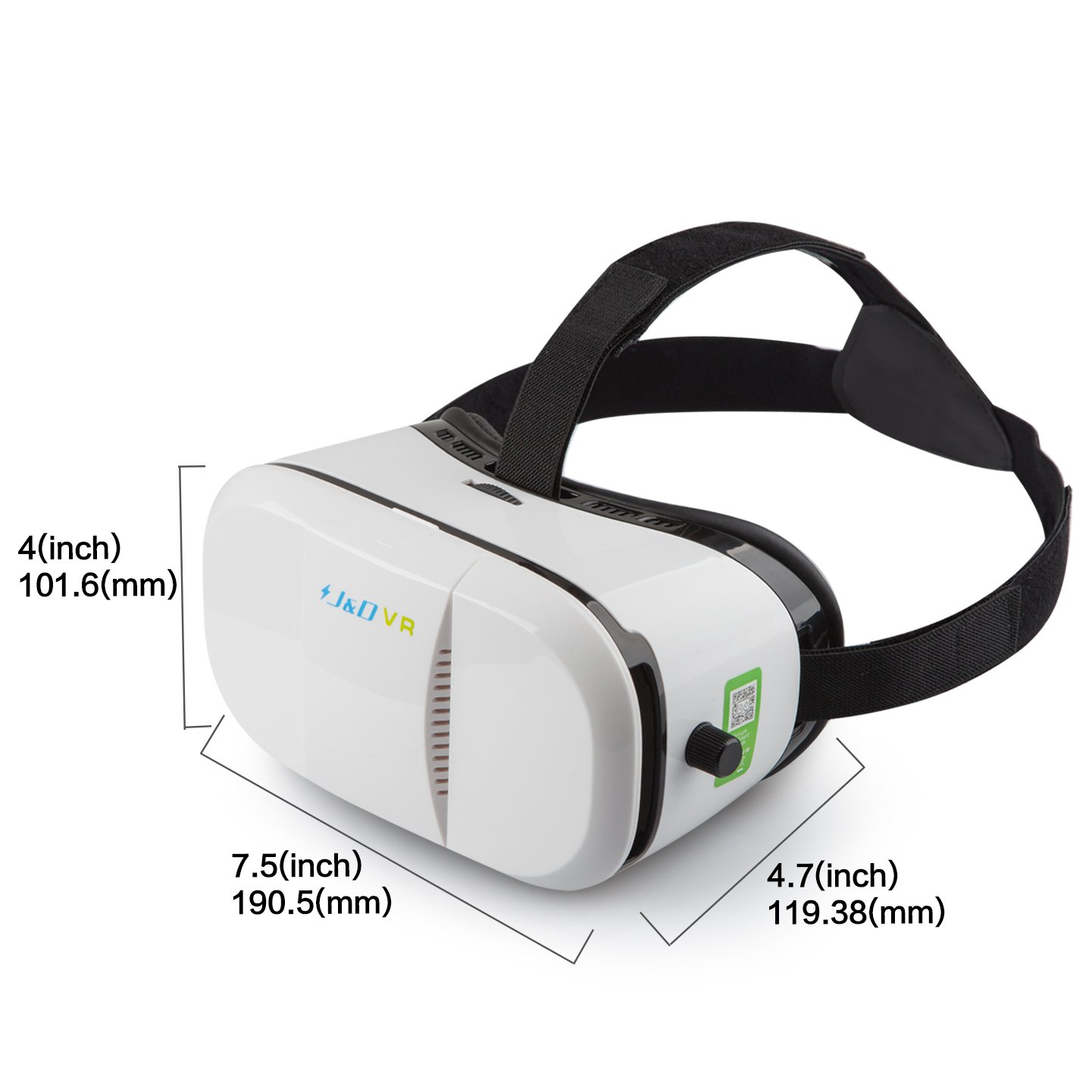 0be12356c Amazon.com: 3D VR Headset, J&D 3D Virtual Reality Headset (Focal and Pupil  Distance Adjustable Headset for iPhone Samsung Moto LG Nexus HTC,  Black/White): ...