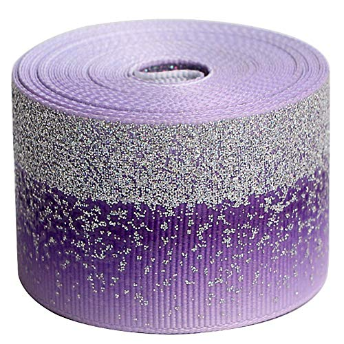 - Tvoip Tie Dye Glitter Rainbow Polyester Grosgrain Tape Ribbon Grosgrain Ribbons 1-1/2
