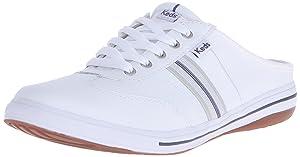 Keds Women's Virtue Fashion Sneaker, White Leather, 6 M US