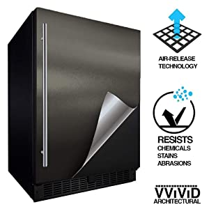 "VViViD Architectural Adhesive Metallic Satin Finish Vinyl 24"" x 60"" Roll (Matte Metallic Charcoal Grey)"