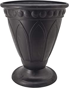 Arcadia Garden Products PSW HU40BK Bristol Urn Planter, 16 by 18-Inch, Black
