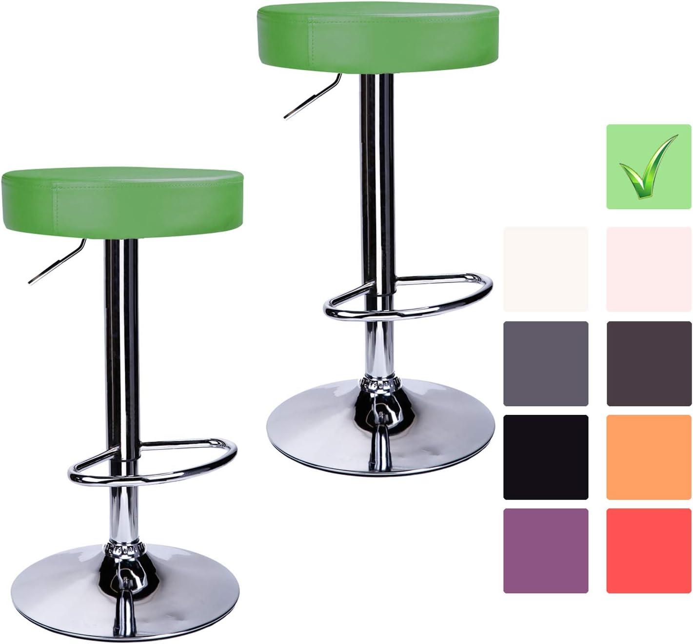 cm Sgabello Cucina Moderno con poggiapiedi CCLIFE Set 2x //1x Sgabello Bar Regolabile in Altezza Colore:Bruno Dimensione:2pz-Set 63-83