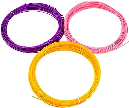 AFUNTA 9PCS 1.75mm 20M Flexible ABS 3D Print Filament para Pen ...