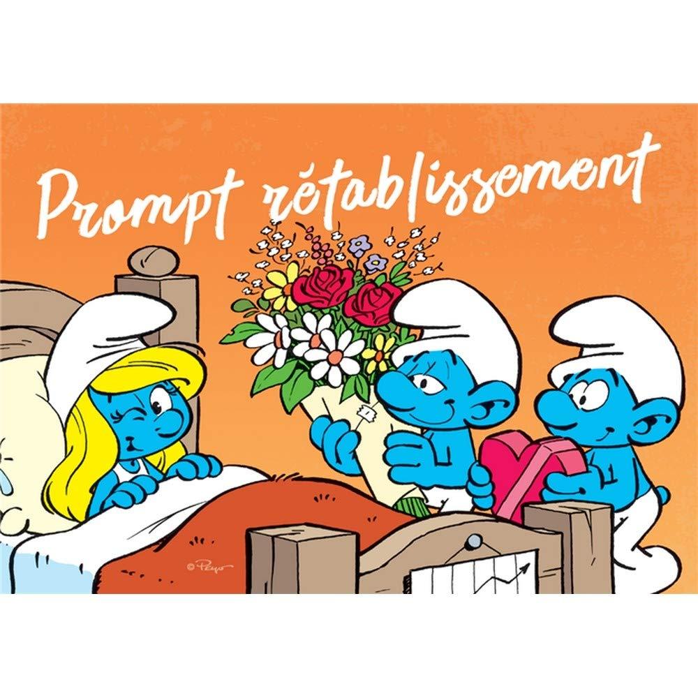 Postcard The Smurfs, Smurfette Prompt rétablissement (15x10cm)