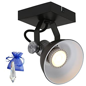 Pared/Techo Spot Brooklyn GU10 LED 7 W Negro como - Lámpara ...