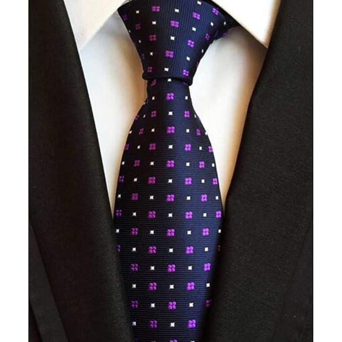 DYDONGWL Corbata Fina Hombre,Corbata de Seda a Rayas de Moda para ...