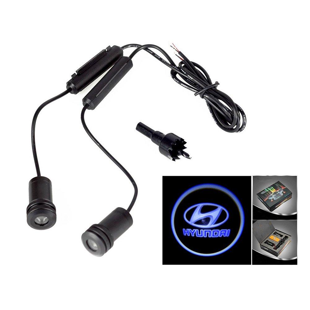 Lupar 5w 4th Generation 2x LED Car Door Laser Projector Ghost Shadow Step Light Logo (Fits:HYUNDAI) LPDP-074-HYUNDAI