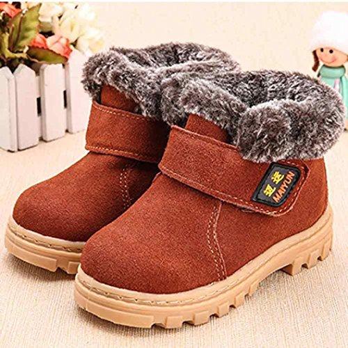Jamicy® Baby Kind Kinder Mädchen Mode Winter Stil Baumwolle Stiefel warme Schneeschuhe Braun
