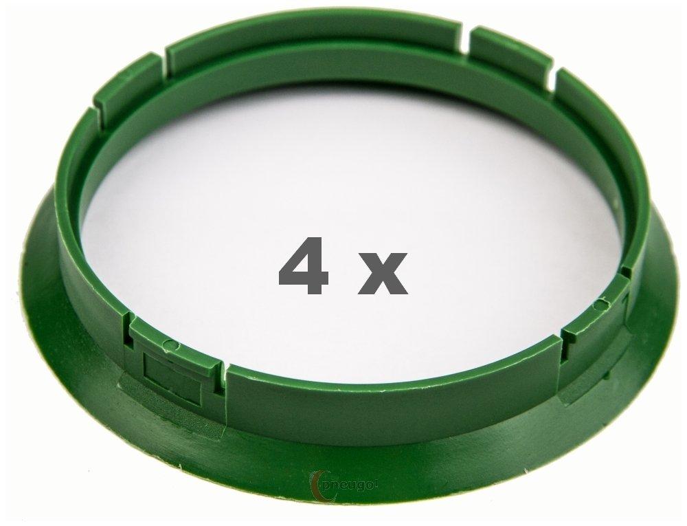 4 x Zentrierringe 72.5 auf 67.1 grü n/green Pneugo