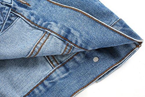 ZEARO Jeans Weste Herren