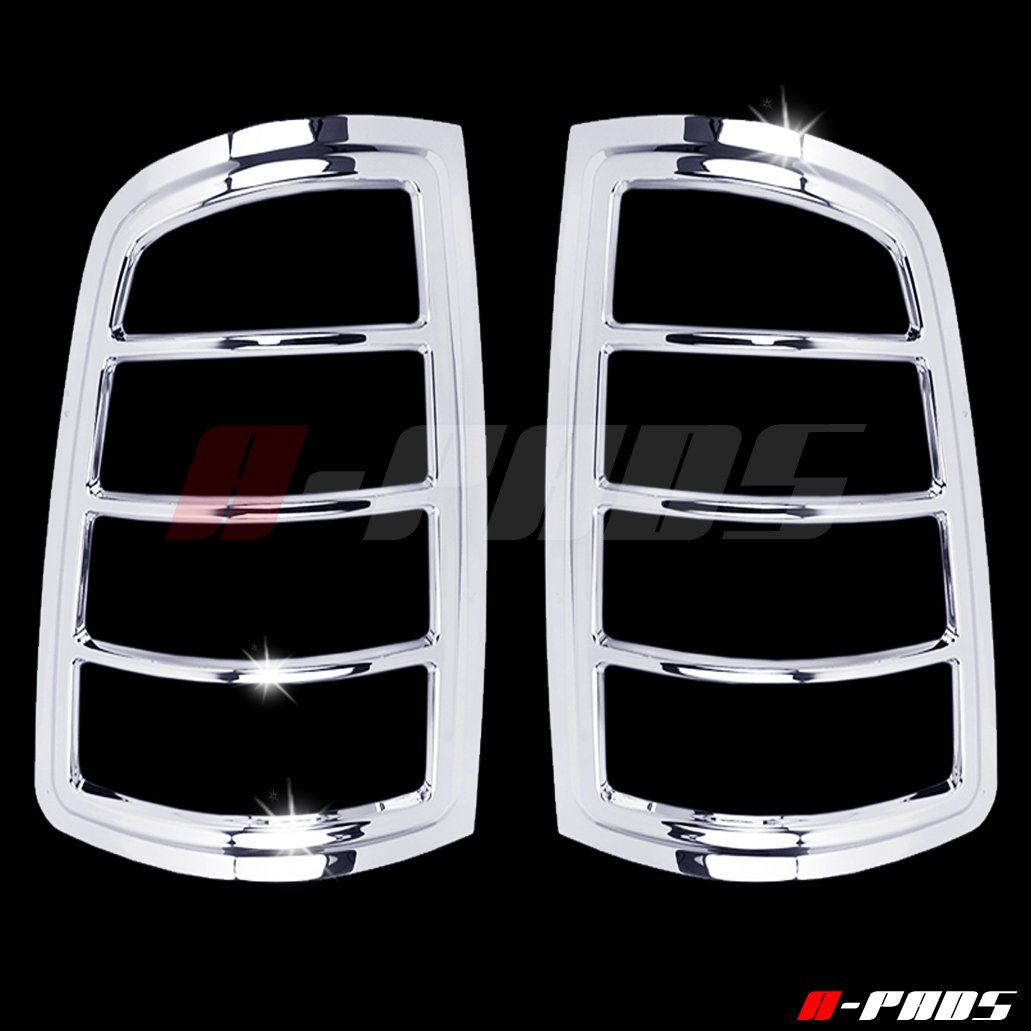 A-Pads Chrome Tail Light Covers for Dodge RAM 1500 2009-2017/2500 & 3500 2010-2016 - Rear Lights Taillights Bezel Pair 4333249197
