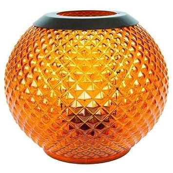 YANKEE CANDLE 1507914 Monterosso Votive Holder Lanterns Porta Sampler, Vetro, Arancione, 17.9x17.7x16.7 cm