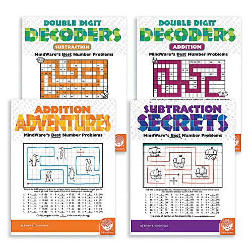 MATH ADVENTURES ADDITION AND SUBTRACTION: SET OF 4 by CusCus