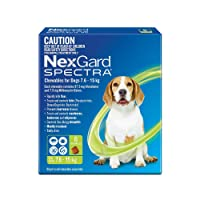 Nexgard Spectra for dogs 7.6 - 15kg pack of 3 Medium dogs