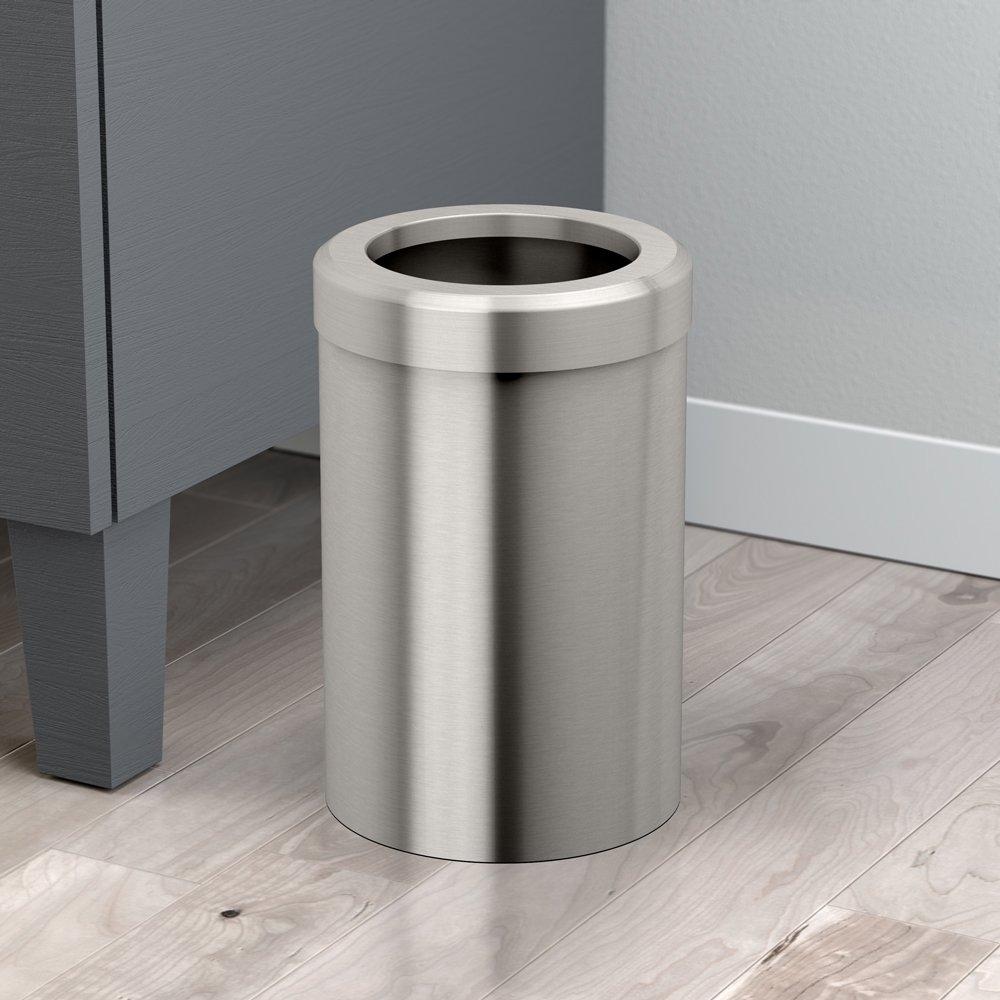 Chrome Gatco 1916 Modern Waste Basket Bathroom Office Trash Bin Kitchen