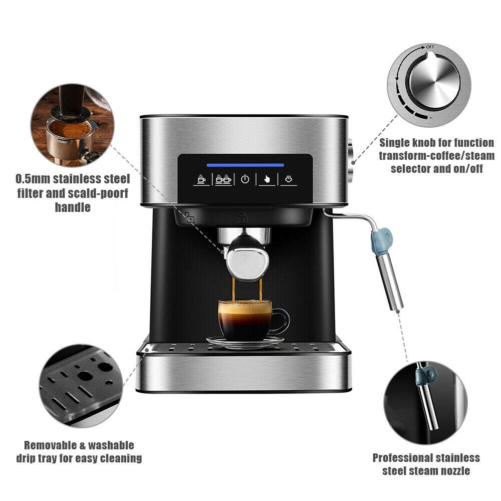 YUEWO Cafetera Espresso automática, 850W,Cafetera Express para ...