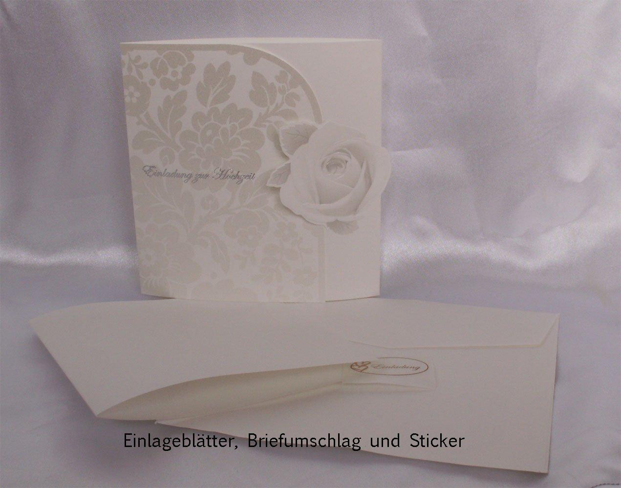 Einladungskarte Hochzeit Edel 20er Pack: Amazon.de: Bürobedarf U0026  Schreibwaren