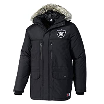 big sale 70124 fc9bb Majestic Oakland Raiders Arctic NFL Parka, L: Amazon.co.uk ...