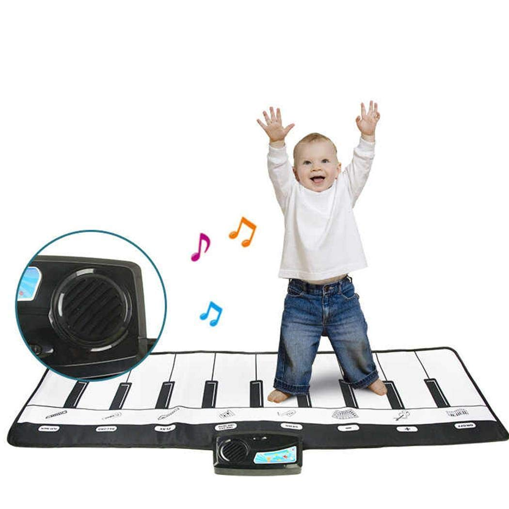 Breven Kids Piano Keyboard Mat, Electronic Music Playmat Carpet, Musical Crawling Blanket, Educational Toy Dance Mats by Breven (Image #2)