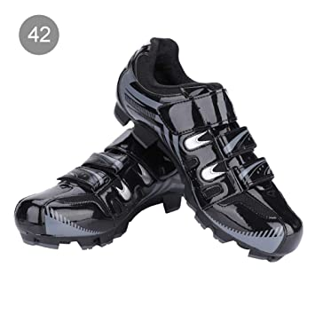 Alomejor 1 par de Zapatos de Ciclismo para Hombre Transpirables Bicicleta de montaña Antideslizante SPD System Zapatos de Ciclismo para Adultos: Amazon.es: ...