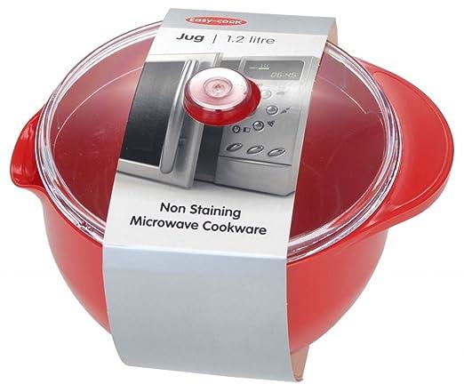 Easy Cook - Jarra y tapa para microondas (1,2 L), color rojo ...