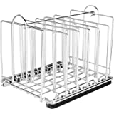 EVERIE Weighted Sous Vide Rack Divider, Improved Vertical Mount Stops Wobbling, 5 Detachable Stainless Steel Dividers and 2 Buil-in Holder Dividers