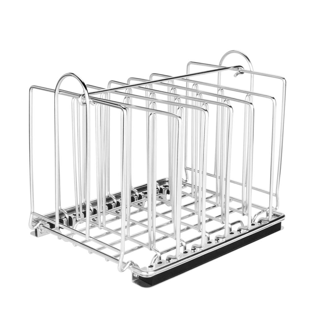 EVERIE Weighted Sous Vide Rack Divider, Improved Vertical Mount Stops Wobbling, 7 Stainless Steel Dividers by EVERIE