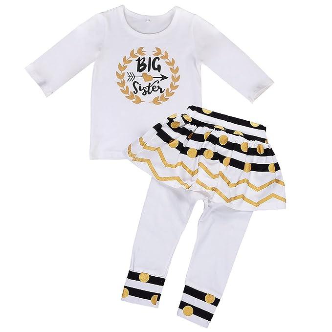 4957e054c216 Image Unavailable. Image not available for. Color: Little Big Sister Suit  Set,Romper T-Shirt Polka Dot Skirt Dress ...