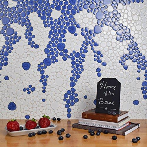 SomerTile FKOPS144 Boulder Cloud Porcelain Floor and Wall Tile, 11'' x 11'', Blue by SOMERTILE (Image #9)