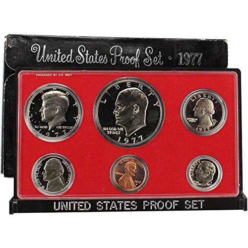 1977 S US Mint 6-piece Proof Set with Eisenhower Dollar OGP Proof