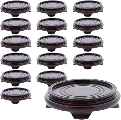 SandT Collection Rosewood Finish Tea Light Holder Candle Tray