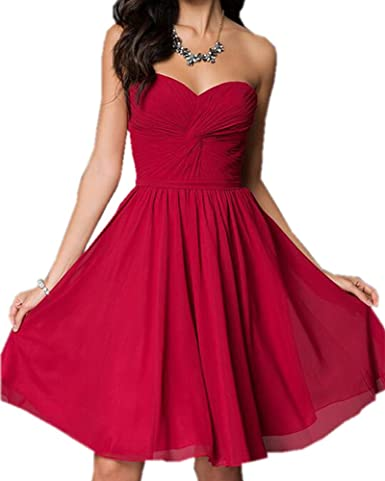 Review Olivia's Sweetheart Lace up Bridesmaid Dresses Chiffon Party Dresses For Wedding Cheap