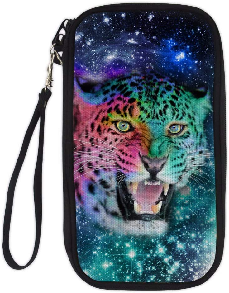 TZY Professional Travel Passport Wallet Hand Holding Bag Crossbody Bag fox tiger parrot star Card Package ID Holder Storage CC3206Z6