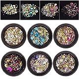 6 Wheels Mixed Nail Art Rhinestones Diamonds Crystals Beads Gems for DIY Decor (02#)