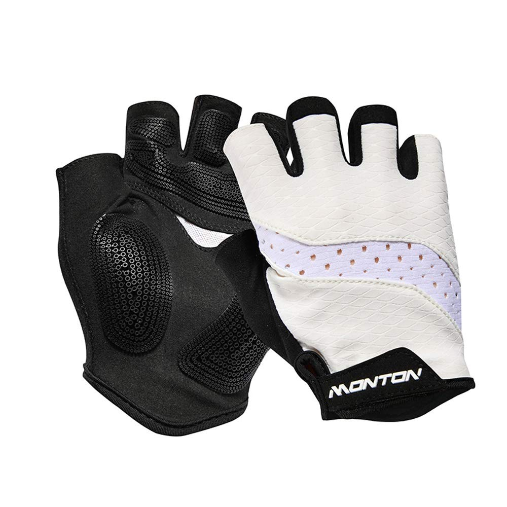 Agelec Half Finger Mitten, Cycling Gloves, Half Finger Bicycle Gloves, Half Finger Summer Breathable Unisex Gloves